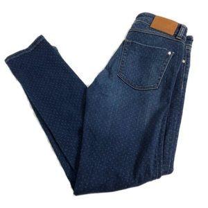Zara Z1975 Mid Rise Skinny Polka Dot Jeans US 6